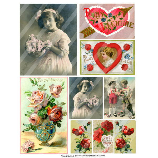 Valentine Collage Sheet 60