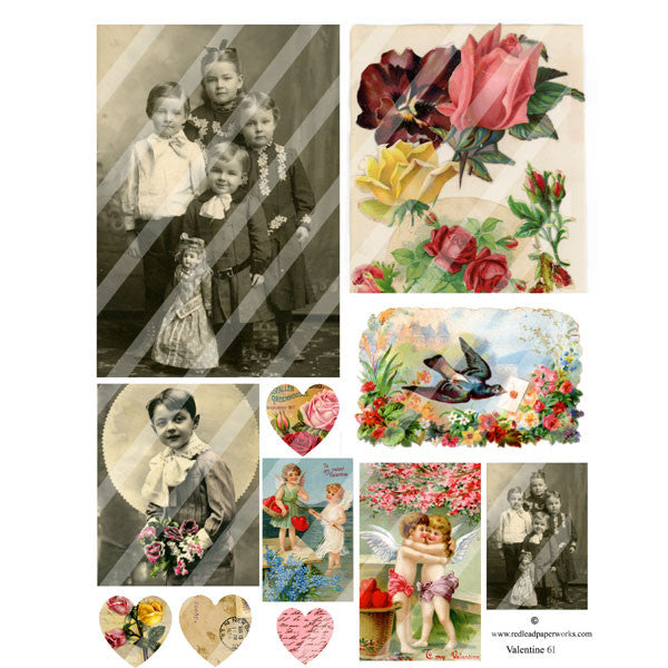 Valentine Collage Sheet 61