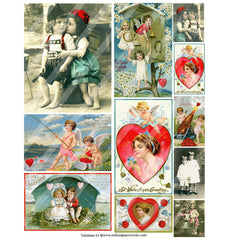 valentine 63 collage sheet