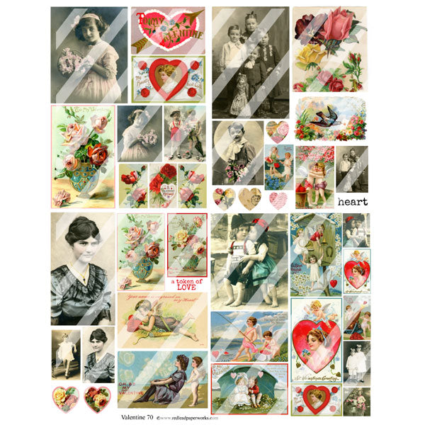 Valentine 70 Collage Sheet
