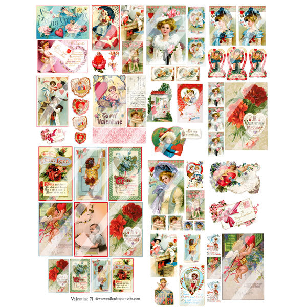Valentine 71 Collage Sheet