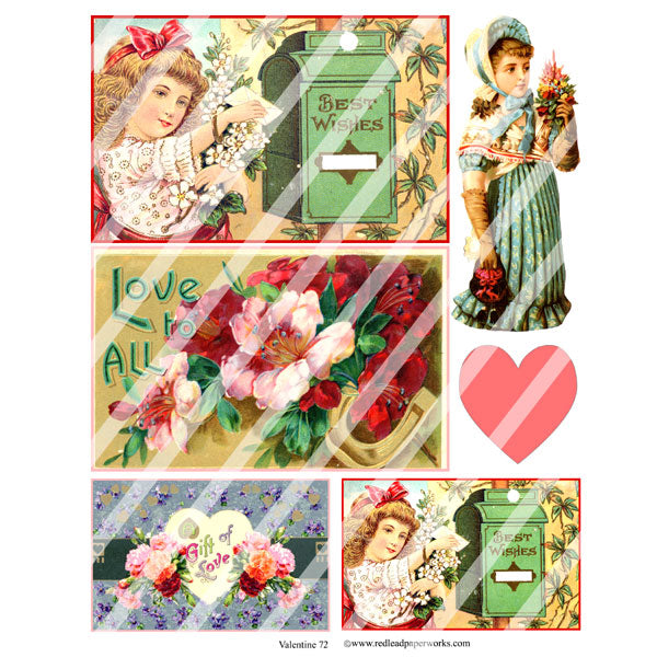 Valentine 72 Collage Sheet