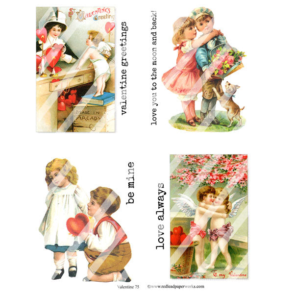 valentine collage sheets