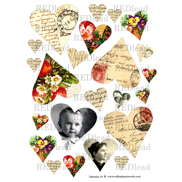 Collage Sheet Valentine 54