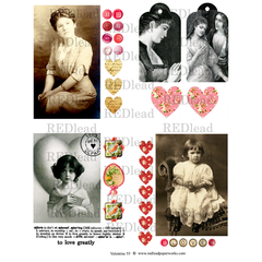 Valentine Collage Sheet 55