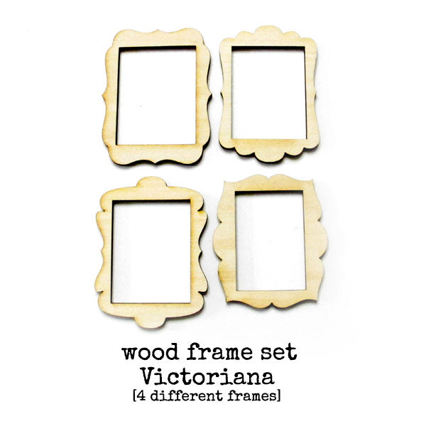 Victoriana Wood Frame Set - 1 set of 4 medium size frames