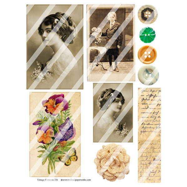 Vintage Elements 336 Collage Sheet