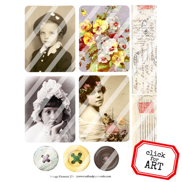 Vintage Elements 258 Collage Sheet