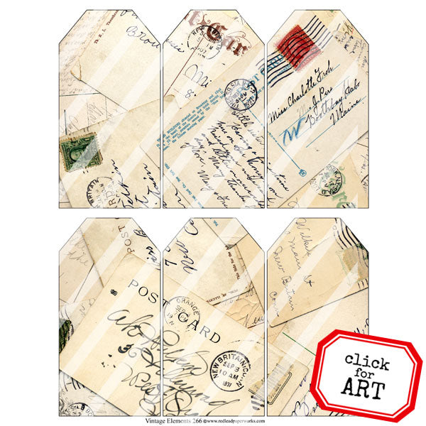 vintage mail art collage sheets