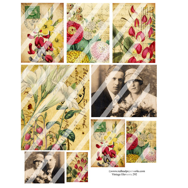 Vintage Elements 292 Collage Sheet