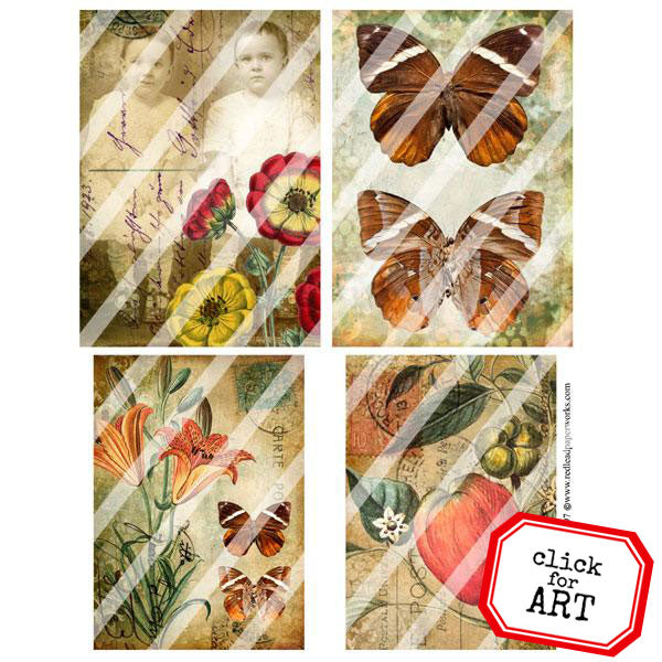 Vintage Elements 297 Collage Sheet