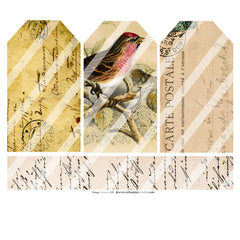 Vintage Elements 299 Collage Sheet Tags