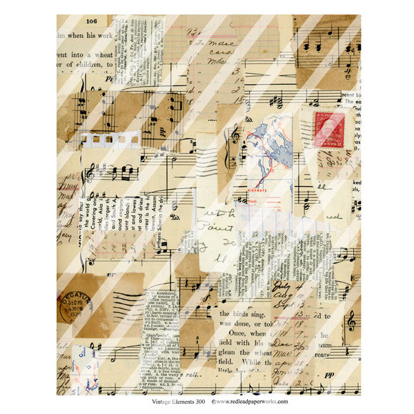 Vintage Elements 300 Collage Sheet