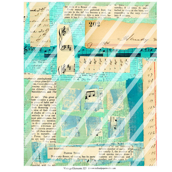 Vintage Elements 323 Music Collage Sheet