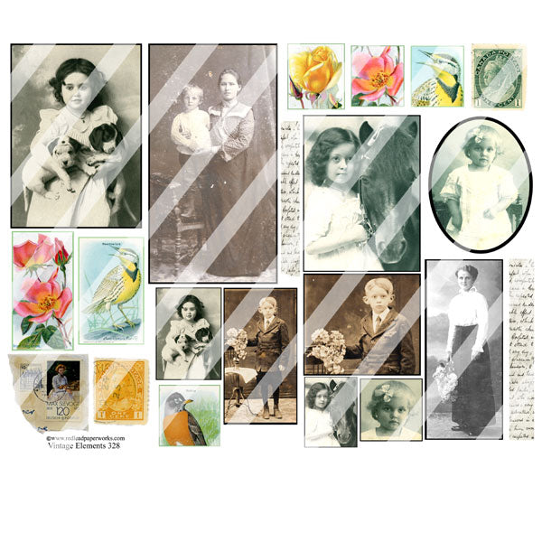 Vintage Elements 328 Collage Sheet