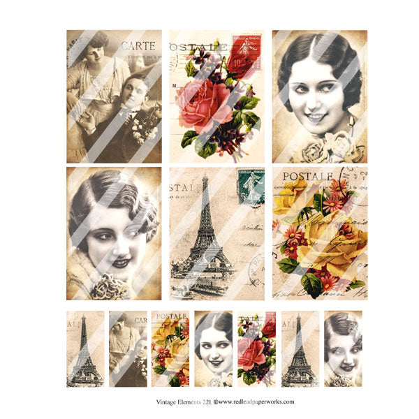 Vintage Elements Collage Sheets