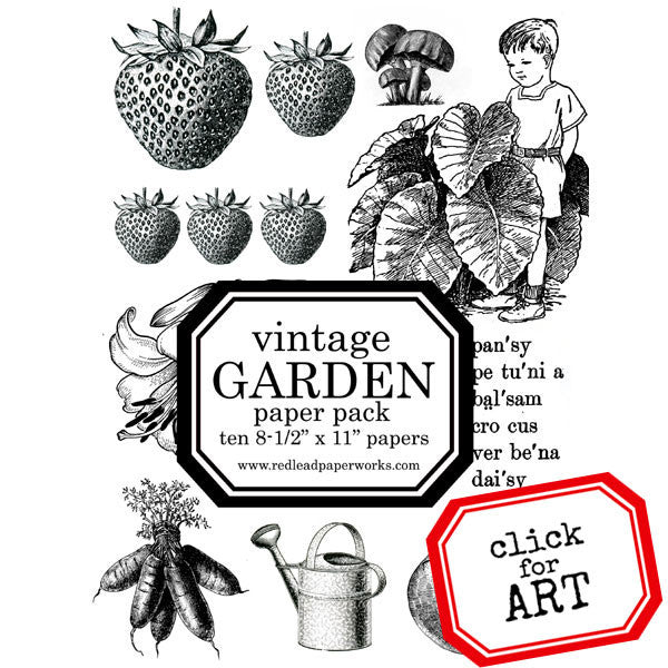 A Vintage Nature and Gardening Coloring Pages