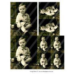 vintage photos 25 collage sheet