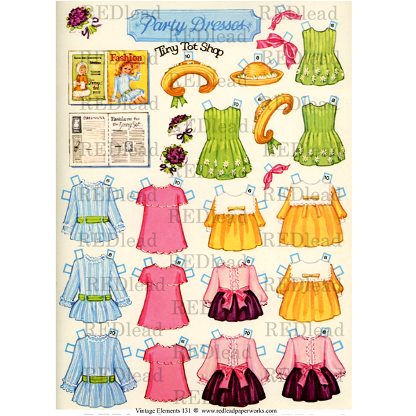 * Collage Sheet Vintage Elements 131