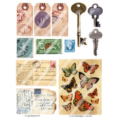 Vintage Elements 180 Collage Sheet
