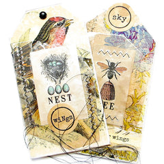 NEST Wood Mount Rubber Stamp