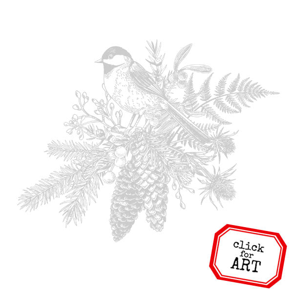 Winter Bird Rubber Stamp