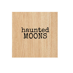 Haunted Moons Wood Mount Rubber Stamp