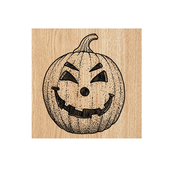 Happy Jack  O' Lantern Wood Mount Rubber Stamp Save 50%