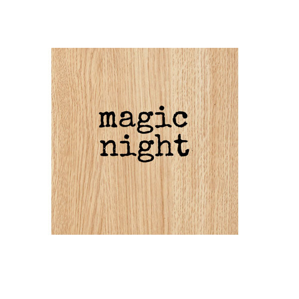 Magic Night Wood Mount Rubber Stamp