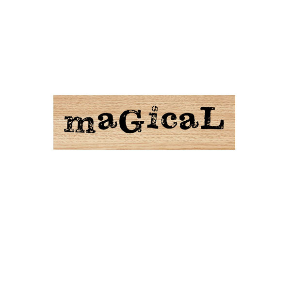 Magical Wood Mounted Rubber Stamp