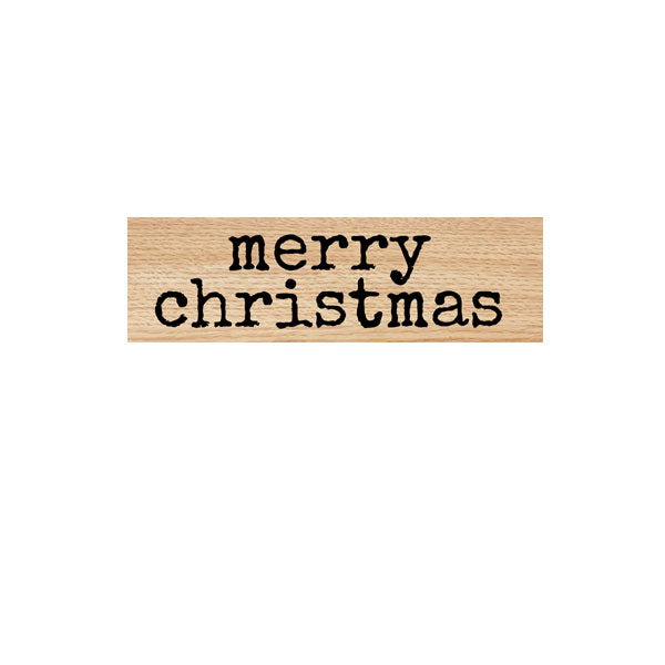 Merry Christmas Wood Mounted Rubber Stamp