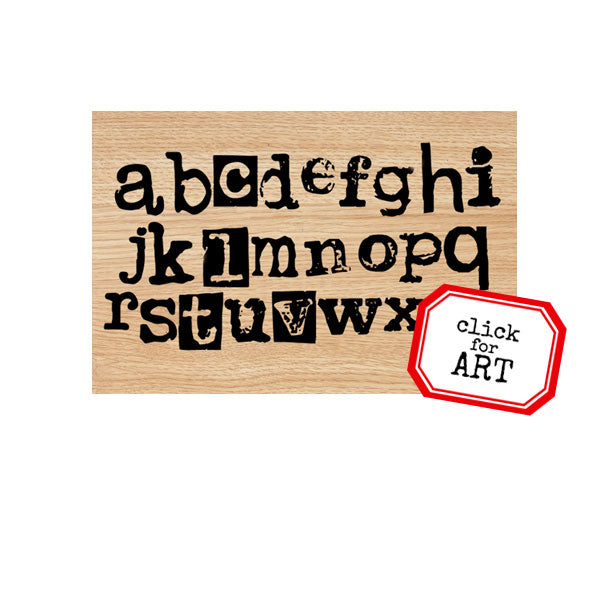 Mixed Media Alphabet Wood Mount Rubber Stamp SOLD OUT!