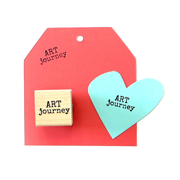 Art Journey Wood Mounted Rubber Stamp