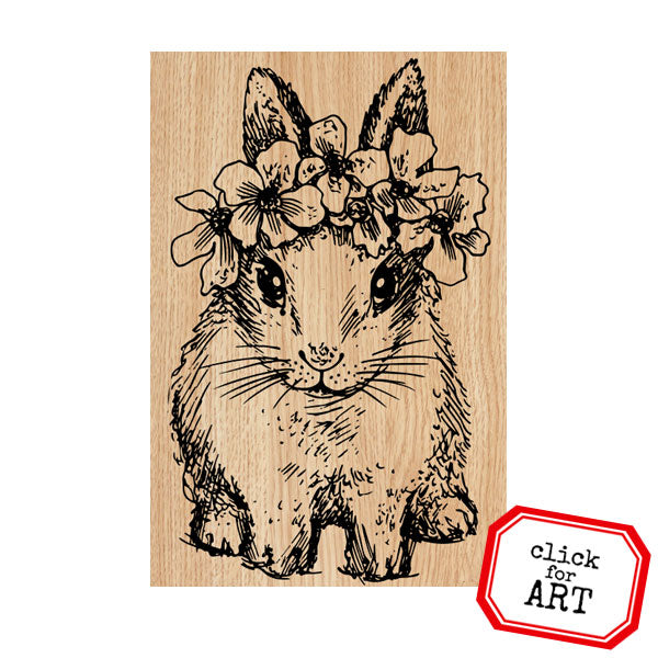 Baby Bunny Bessie Wood Mount Rubber Stamp