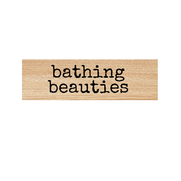 Bathing Beauties Wood Mount Rubber Stamp