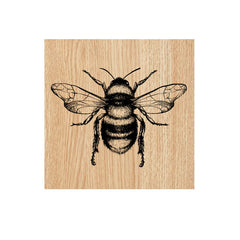 Bizzy Bee Wood Mount Rubber Stamp