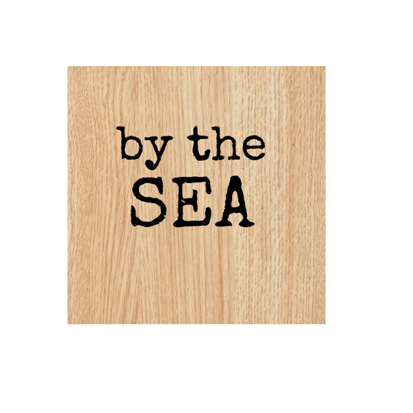 By the Sea Wood Mount Rubber Stamp