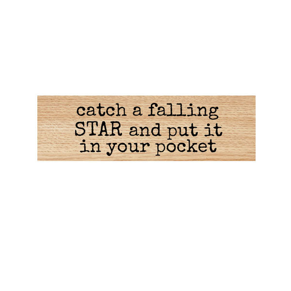 Catch A Falling Star Wood Mounted Rubber Stamp