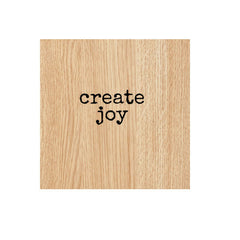 Create Joy Wood Mounted Rubber Stamp
