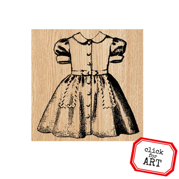 Darlene Dress Wood Mount Rubber Stamp