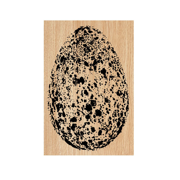 Speckled Egg Wood Mount Rubber Stamp