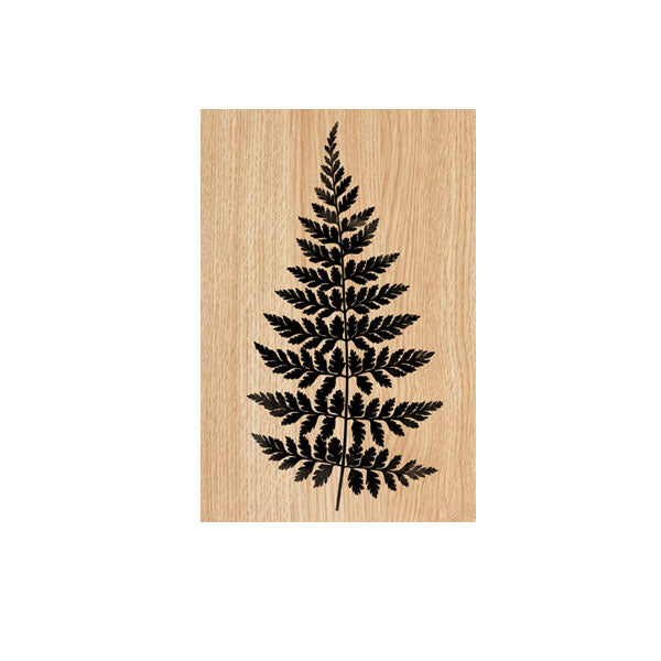 Fern Wood Mount Rubber Stamp