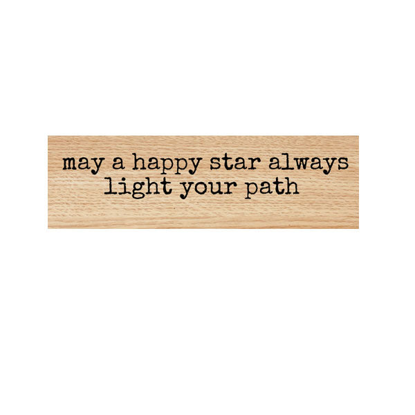 May a Happy Star Wood Mounted Rubber Stamp