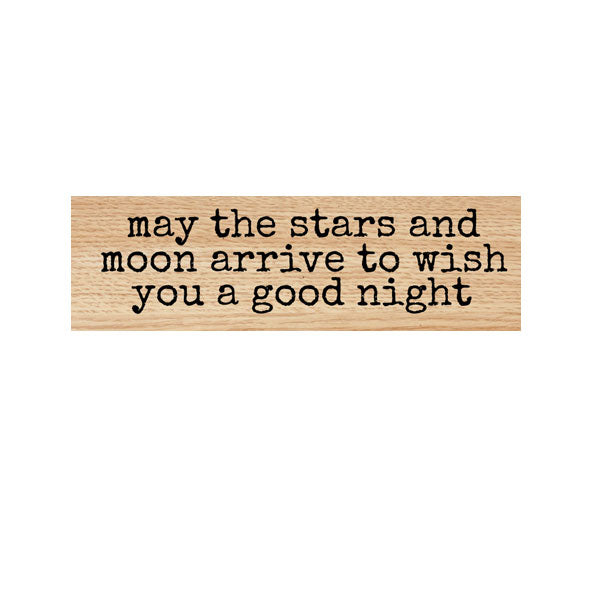 May the Stars and Moon Wood Mounted Rubber Stamp