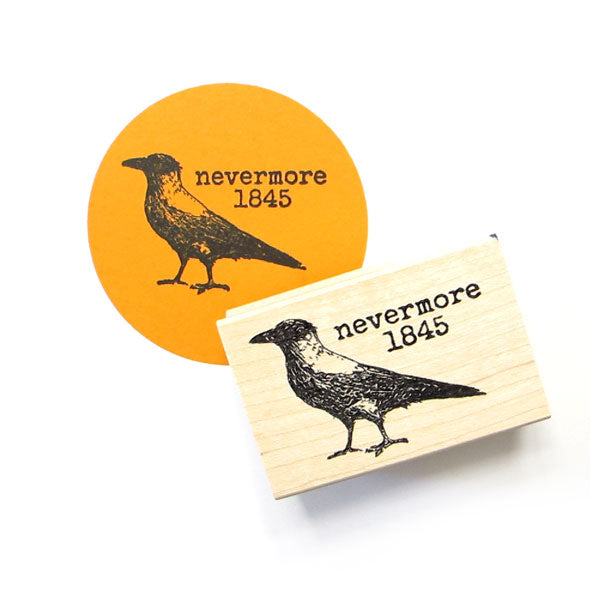 Nevermore 1845 Wood Mount Rubber Stamp