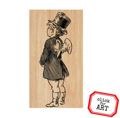 Pierre Cupid Wood Mounted Rubber Stamp Save 10%