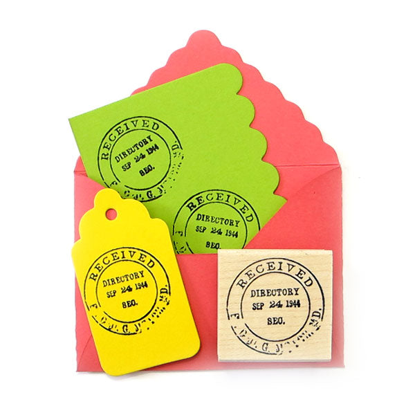 Received Directory Postmark Wood Mounted Rubber Stamp