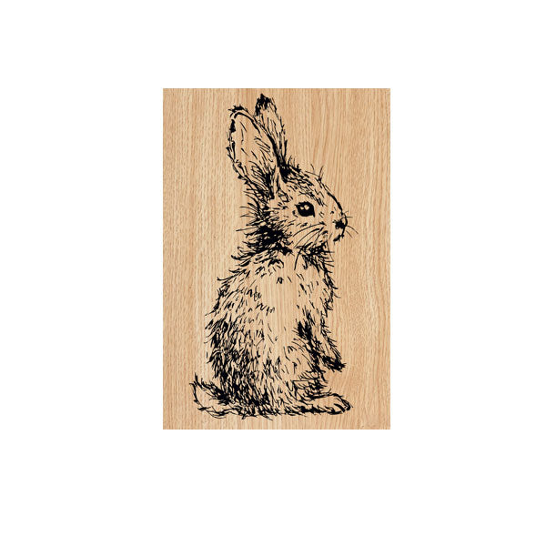 Beatrice Bunny Wood Mount Rubber Stamp