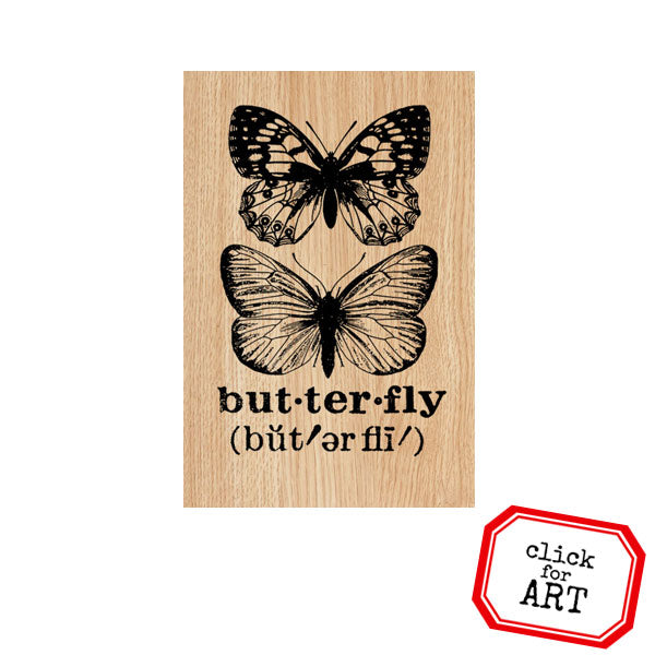 Butterfly Defined Wood Mount Rubber Stamp