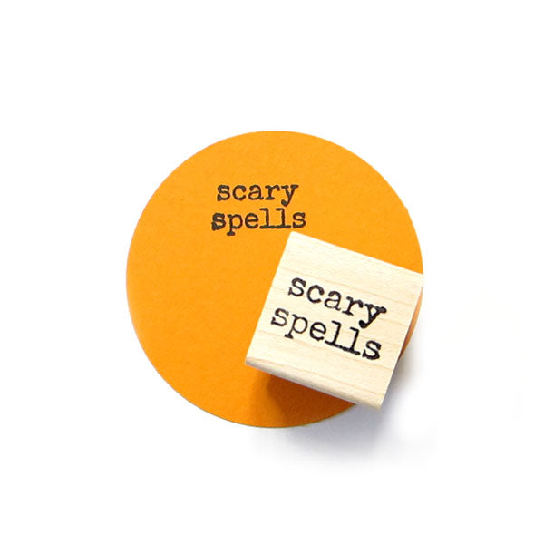 Scary Spells Wood Mount Rubber Stamp